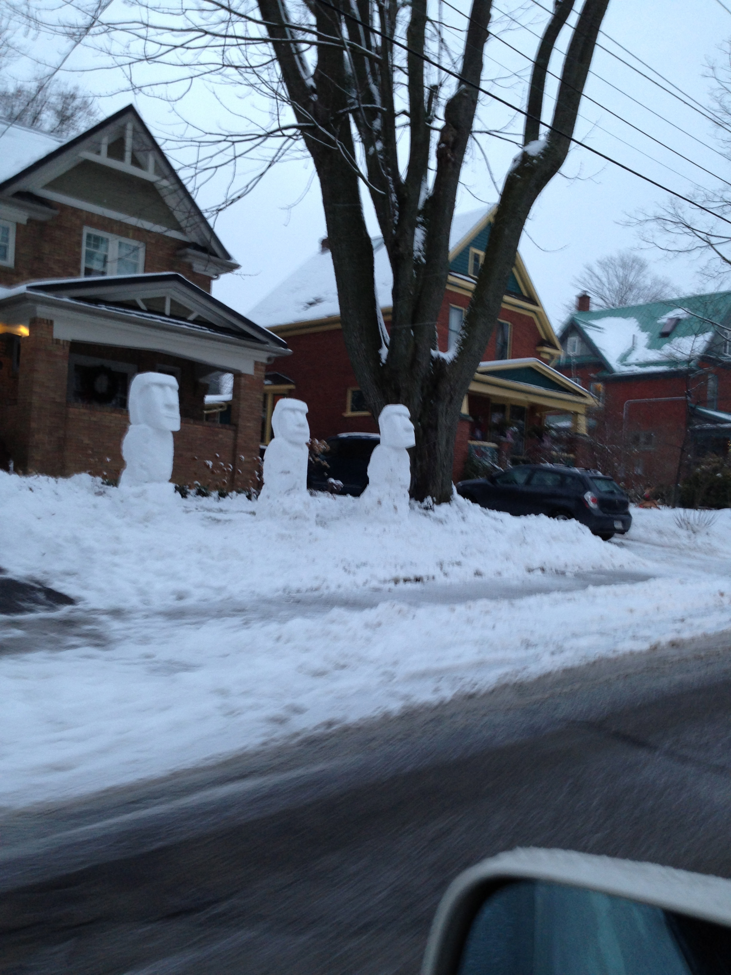 Friday real estate update - Easter Island snow landscaping - Keith ...