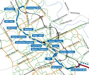 LRT stops map